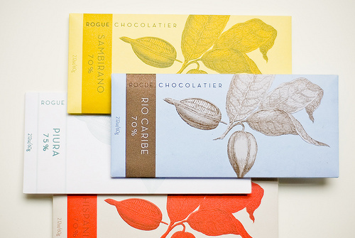 Rogue Chocolatier Rio Caribe (in front) - photo by EverJean