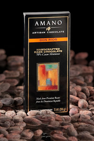 Amano Dos Rios on cacao beans