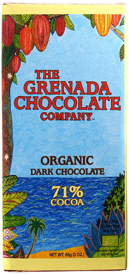 Grenada 71% Organic Dark Chocolate Bar - packshot